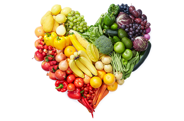 Image result for fruit and veggies in heart shape