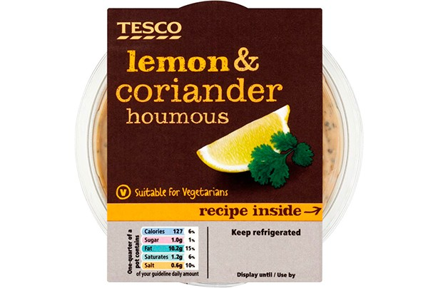 Image result for tesco hummus lemon and coriander