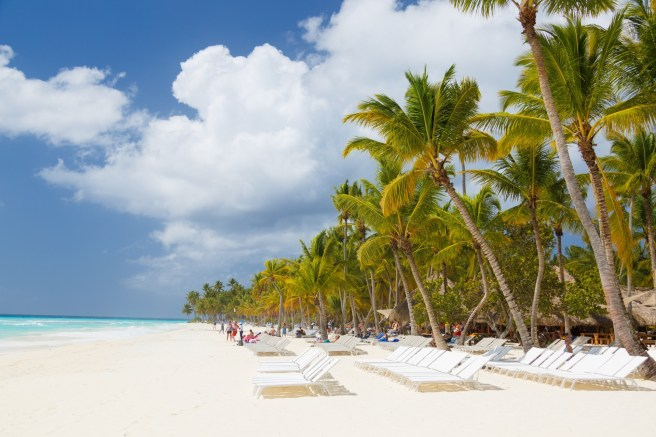 A Carribean beach