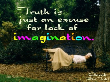 truth is just an excuse for lack of imagination