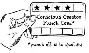 Conscious Creator's Punch Card