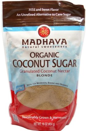 Madhava Honey Organic Blonde Coconut Sugar, 16 oz