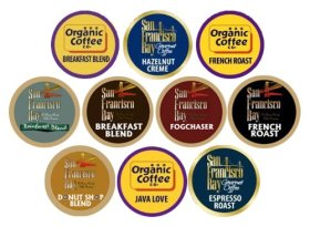 30 Count – San Francisco Bay & Organic Coffee Company Onecup K-cup Variety Pack Sampler (10 Flavors, 3 OneCups Each)