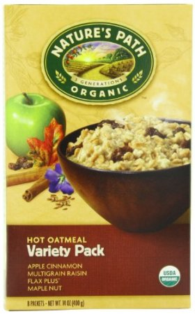 Nature's Path Organic Instant Hot Oatmeal, Variety Pack of Four Flavors, 8-Count Boxes (Pack of 6)