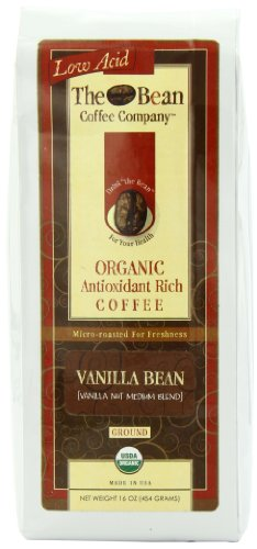 The Bean Coffee Company Vanilla Bean (Vanilla Nut Medium Blend), Organic Ground, 16-Ounce Bags (Pack of 2)