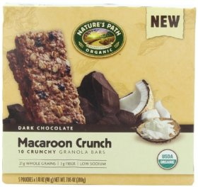 NATURE'S PATH ORGANIC Crunchy Granola Bars, Macaroon Crunch, 7.05-Ounce (Pack of 6)