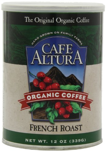 Cafe Altura Organic Coffee, French Roast, Ground, 12-Ounce Can (Pack of 3)