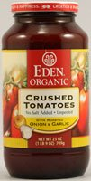Eden Foods – Organic Crushed Roma Tomatoes with Roasted Onion and Garlic – 25 oz.