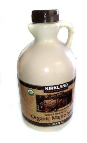 Kirkland Signature Organic Grade A Dark Amber Maple Syrup 33.8 fl. oz.