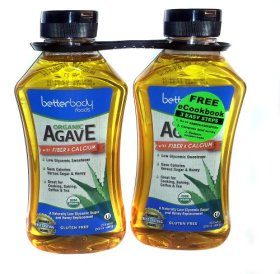 Better Body Foods Organic Agave with Fiber & Calcium – 2 Pack 23.5 wt. oz. each