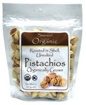 Organic Pistachios Roasted & Unsalted 8 oz (227 grams) Pkg