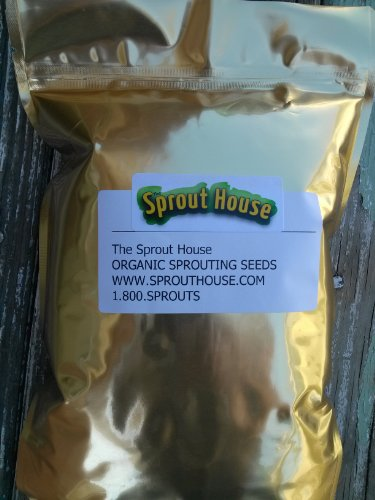 The Sprout House Organic Sprouting Seeds – Power Cleanser 1 Pound – Sunflower and Buckwheat