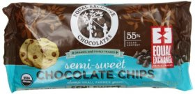 Equal Exchange Organic Chocolate Chips, Semi-Sweet, 10 Ounce (Pack of 12)