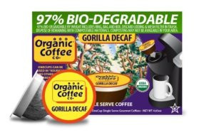 The Organic Coffee Co., Decaf Gorilla Coffee, 12 OneCup Single Serve Cups