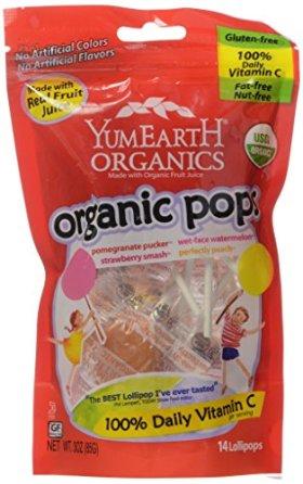 Yummy Earth Organic Fruit Lollipops – 15 Lollipops