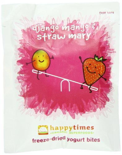 Happy Times Organic Mixed Fruit Yogis Snacks,  0.3 oz individual pouches, 5 count box (Pack of 6)