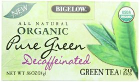 Bigelow Organic Pure Green Tea Decaffeinated, 0.86 Ounce Box