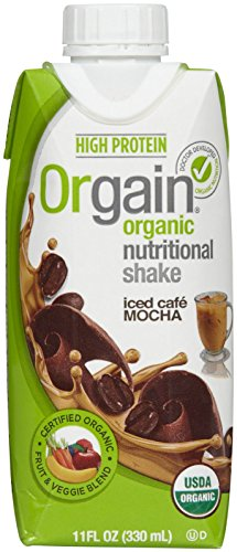 Orgran Iced Cafe Mocha Meal Replacement Nutritional Shake, 11 Ounce – 12 per pack — 1 each.