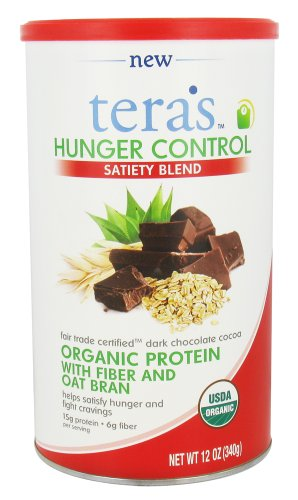 Tera's Whey – Hunger Control Satiety Blend Fair Trade Certified Dark Chocolate Cocoa – 12 oz.