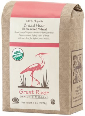 Organic Stone-Ground Unbleached Wheat Bread Flour – 5 lb. bag