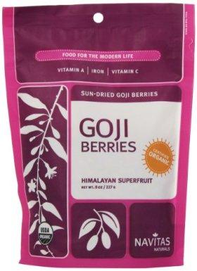 Navitas Naturals Organic Goji Berries, 8 Ounce Pouch