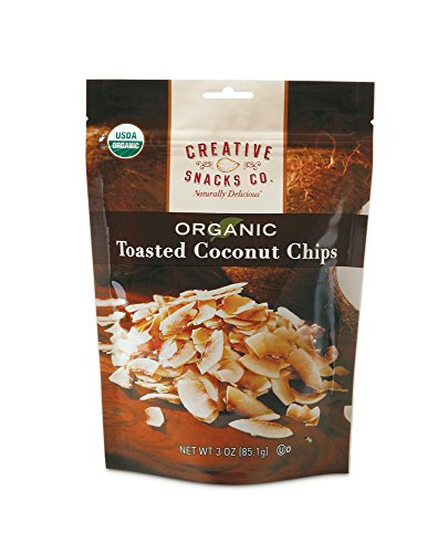 Creative Snacks Organic Toasted Coconut Chips, 3 Ounce