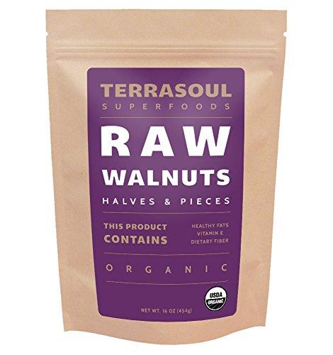 Terrasoul Superfoods Organic Raw Walnuts – 1 Pound