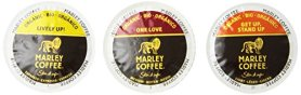 Marley Coffee, Marley Mixer Single Serve RealCup Organic Variety Pack for Keurig K-Cup Brewers, 36 Count