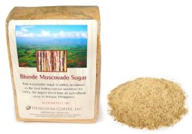 Raw Muscovado Sugar Organic, Blonde, Philippines, 2 LB