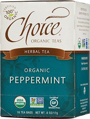 Choice Organic Peppermint Herb Tea, 16 Count Box