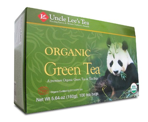 Uncle Lee's Organic Green Tea — 100 Tea Bags net wt 5.64 oz (160g)