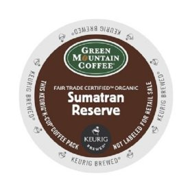 Green Mountain Coffee Fair Trade Organic Sumatran Reserve, K-Cup Portion Pack for Keurig Brewers 24-Count