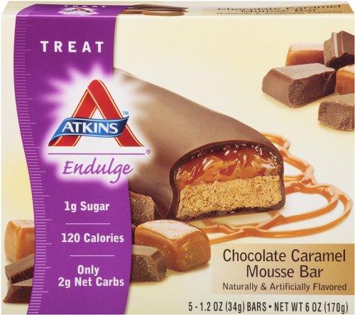 Atkins Endulge Chocolate Caramel Mousse Treat Bar, 1.2 oz., 5 Count Bars