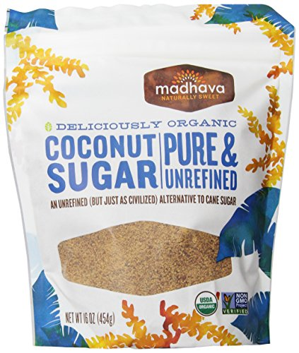 Madhava Organic Coconut Sugar 16-Ounce (Pack of 6)