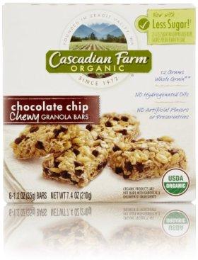 Cascadian Farm Organic Chewy Granola Bar, Chocolate Chip, 6 Count