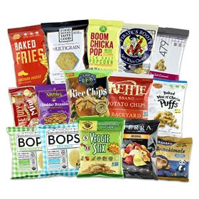 Non-GMO All Natural & Organic Snacks Bundle (GMO Free, No Artificial Colors or Flavors) Children Lunch Chip Bundle 15ct