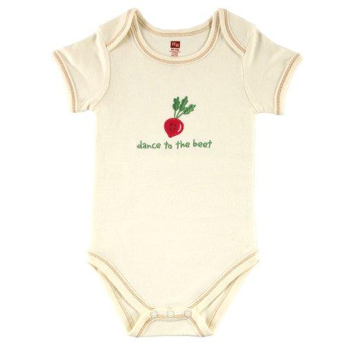 Hudson Baby Organic Bodysuit – Beet, 9-12 Months