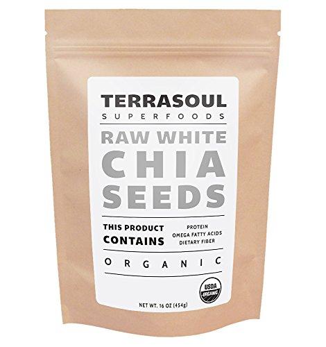 Terrasoul Superfoods White Chia Seeds (Organic), 1 Pound