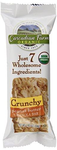 Cascadian Farm Organic Crunchy Granola Bars, Peanut Butter, 7.1 Ounce