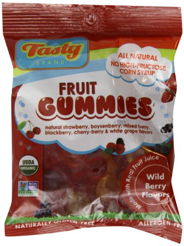 Tasty Brand Organic Fruit Snacks, Wild Berry, 2.75-ounce Bags (Pack of 12)