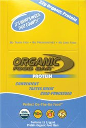 Organic Food Bar Protein – Box Organic Food Bar 12 Bars 1 Box