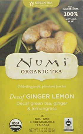 Numi Organic Tea Decaf Ginger Lemon Bags, 16 Count
