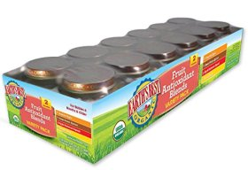 Earth's Best Organic Stage 2, Fruit Antioxidant Blends Variety Pack, 12 Count, 4 Ounce Jars