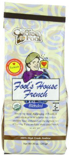 The Coffee Fool Turkish Powder, Fool's Organic Fair Trade House French, 10 Ounce