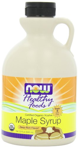NOW Foods Maple Syrup Grade B Organic, 32 ounce