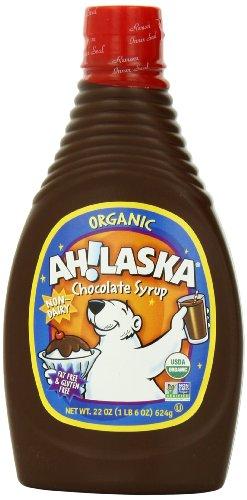 AH!LASKA Organic Chocolate Syrup, 22-Ounce Bottles (Pack of 4)