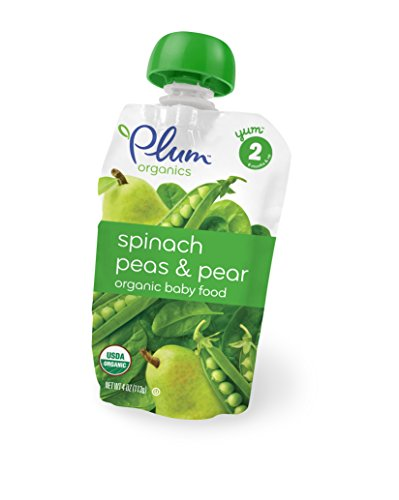 Plum Organics Second Blends – Spinach Peas Pears (1 Count)