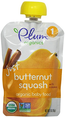 Plum Organics Baby Just Veggies, Butternut Squash with Cinnamon, 3 Ounce
