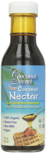 Coconut Secret Organic Raw Coconut Nectar Low Glycemic Sweetener – 12 oz