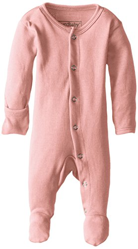 L'ovedbaby Unisex-Baby Organic Cotton Gloved Sleeve Footed Overall, Coral, 6/9 Months